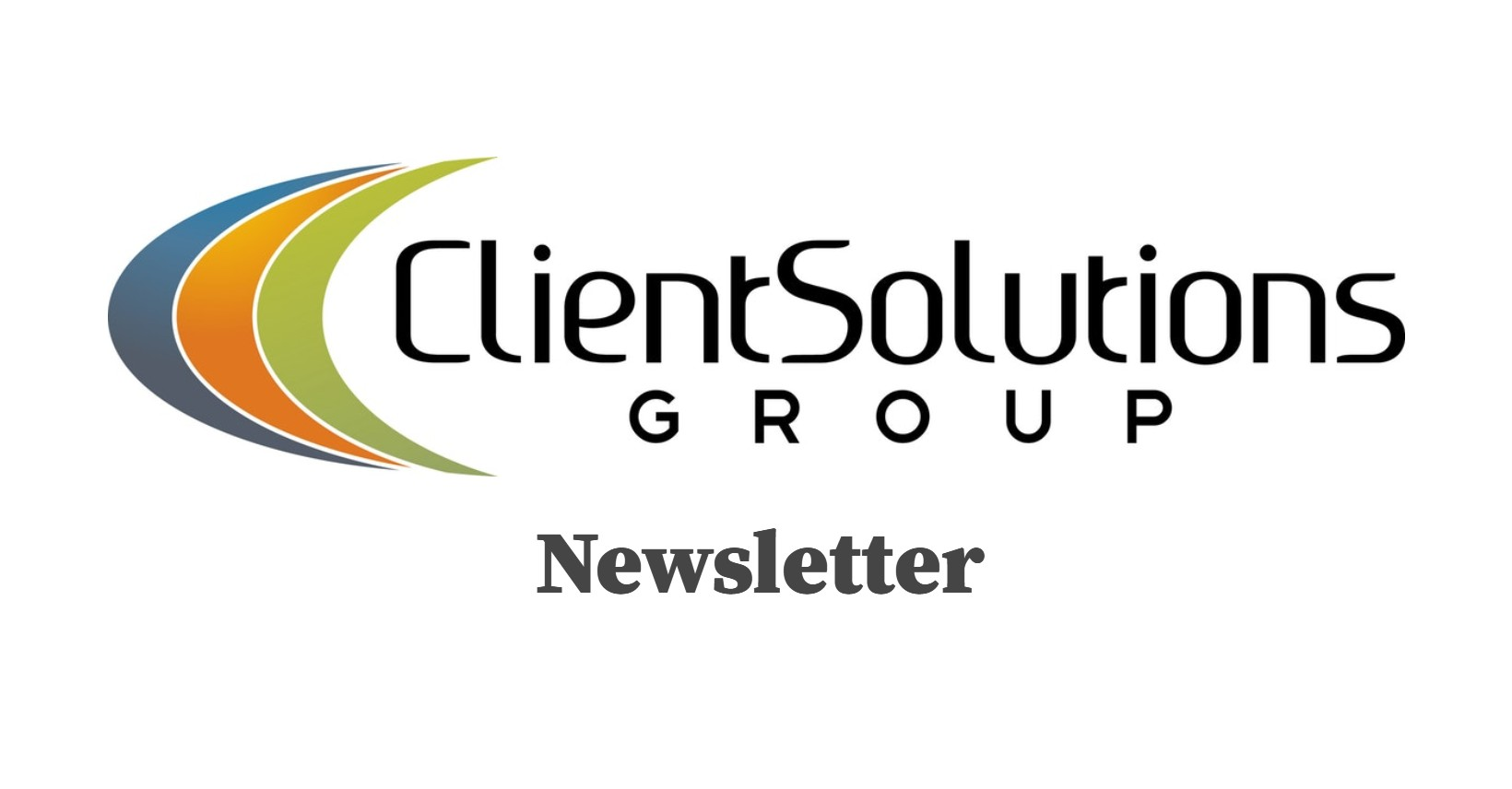 Client Solutions Group newsletter header